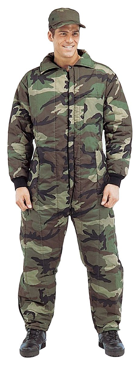 Rothco Insulated Coveralls - Woodland Camo, Small