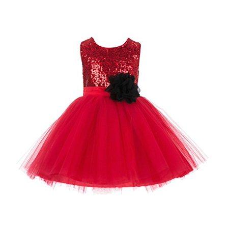 Ekidsbridal Sparkling Sequins Tulle Flower Girl Dresses Junior Toddler Pageant Wedding Dresses Formal Special Occasions Dresses Stylish Elegant Recital Reception Ball Gown Princess Holiday