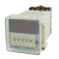 Unique Bargains Unique Bargains Programmable DH48JA Digital Counter Relay 1-999900  110V 50/60Hz