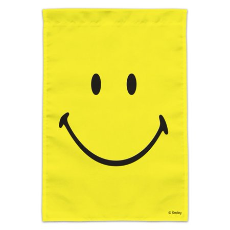 Image of Smiley Smile Happy Yellow Face Garden Yard Flag (Pole Not Included)