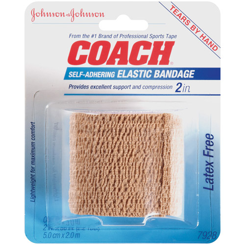 Johnson & Johnson Coach Self-Adhering Elastic Bandage
