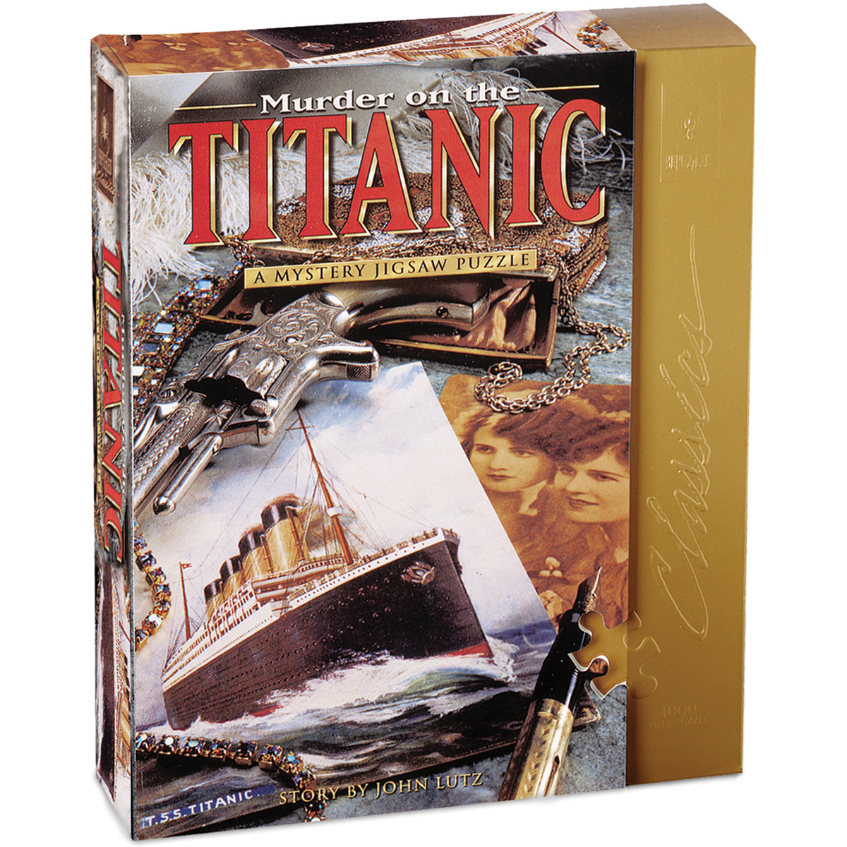 "Jigsaw Shaped Puzzle 1000 Pieces 23""X29""-Murder On The Titanic - image 4 of 4"