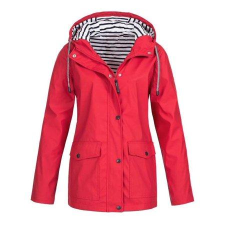 2ad680269 VSNOW - Women's Waterproof Lightweight Raincoat Hooded Active ...