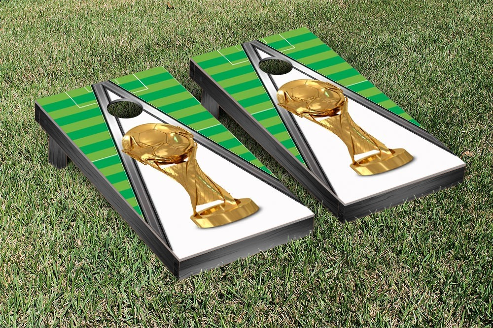 Trophy Soccer Cornhole Game Set by Victory Tailgate