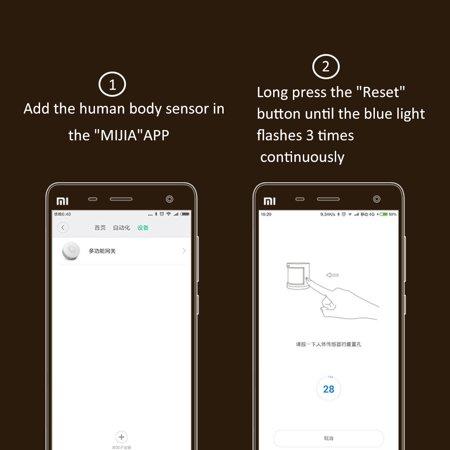 Xiaomi Smart Home Aqara Human Body Sensor ZigBee Wireless Connection 7m  Detection Distance