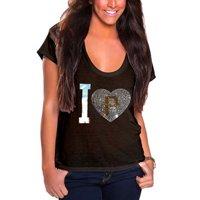 Pittsburgh Pirates Cuce Women's I Heart Team T-Shirt - Black