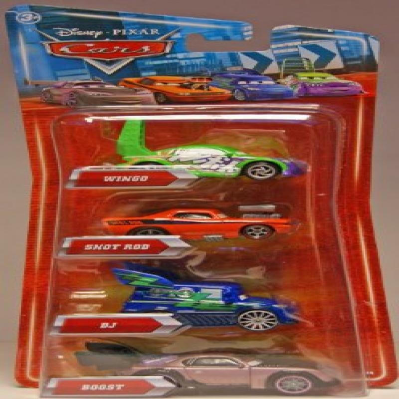 Disney   Pixar CARS Movie Exclusive 155 Die Cast 4Pack DJ, Wingo, Snot Rod Boost by Mattel by