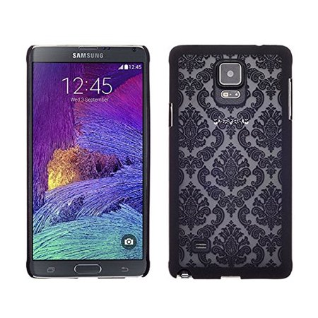 Samsung Galaxy Note 4 Case, Ultra Slim Damask Vintage Hard Case Cover for Galaxy Note 4 - (Damask Note)