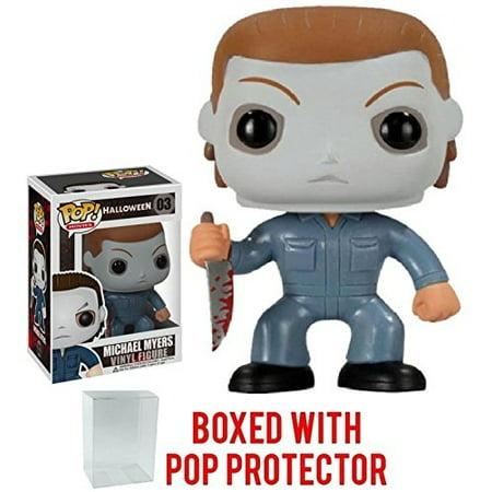 Funko Pop! Movies: Halloween - Michael Myers Vinyl Figure (Bundled with Pop BOX PROTECTOR - Pop Halloween