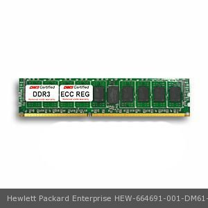 Hewlett Packard Enterprise 664691-001 equivalent 8GB DDR3-1600 (PC3-12800) 1024x72 CL11 1.5v 240 Pin ECC Registered DIMM (x4 IC)