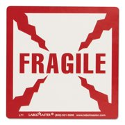 LabelMaster Shipping and Handling Self-Adhesive Label, 5 1/4 x 4 1/2, FRAGILE, 500/Roll -LMTL71