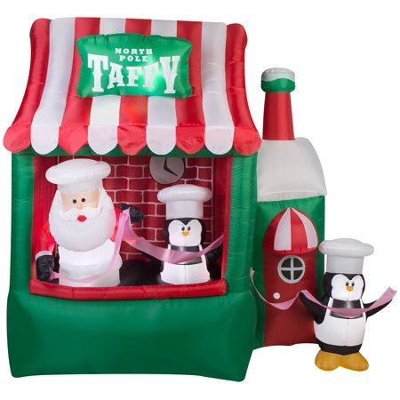 7.25' Animated Airblown North Pole Taffy Stand Christmas Inflatable](Animated Tree)