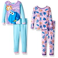 Finding Dory Girls' 4-Piece Cotton Pajama Set