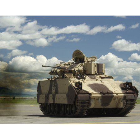 LAMINATED POSTER An M3A1 Bradley Cavalry Fighting Vehicle belonging to the Montana Army National Guard demonstrates t Poster Print 24 x 36