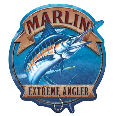 Marlin Extreme Angler Fishing [3 Pack] of Vinyl Decal Stickers | 5