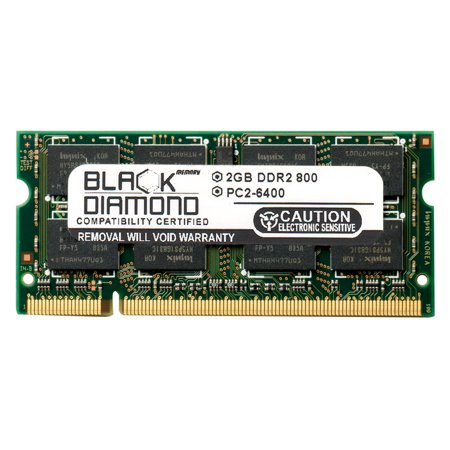 2GB RAM Memory for Acer Aspire One D255e (DDR2 ONLY), 9810 Series, 9920 Series Black Diamond Memory Module DDR2 SO-DIMM 200pin PC2-6400 800MHz (Acer Aspire One D255e Memory Upgrade Instructions)