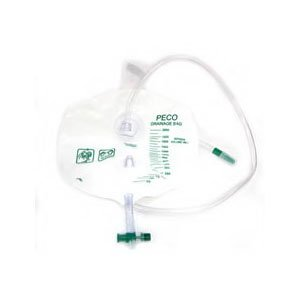- PECO Economy 2000ml (2L) drain bag with single hook hanger [Sold by the Each, Quantity per Each : 1 EA, Category : , Product Class : ]