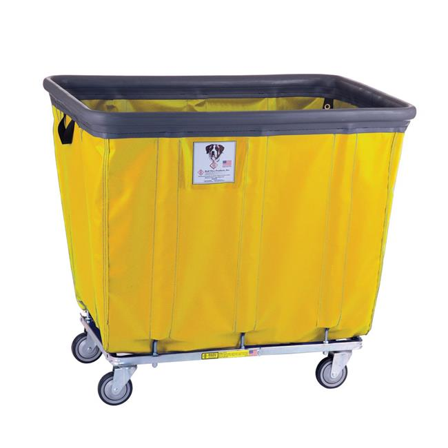 R&B Wire Products 414SOBC-YEL 14 Bushel Vinyl Bumper Truck All Swivel Casters, Yellow - 43 x 31.75 x 37.5 in.