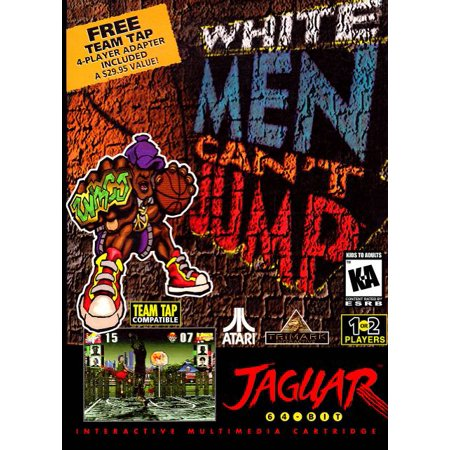 New Atari Jaguar   White Men Cant Jump With Multi Player Tap 64 Bit