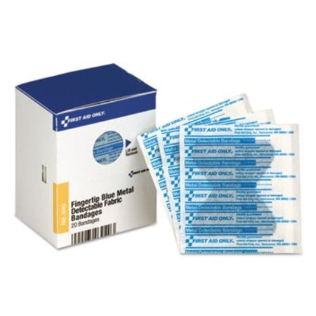 First Aid Only Plastic Bandages - FAOFAE3040 - , INC. SC Blue Metal Detectable Bandages, Bandages_Type - Plastic By First Aid Only