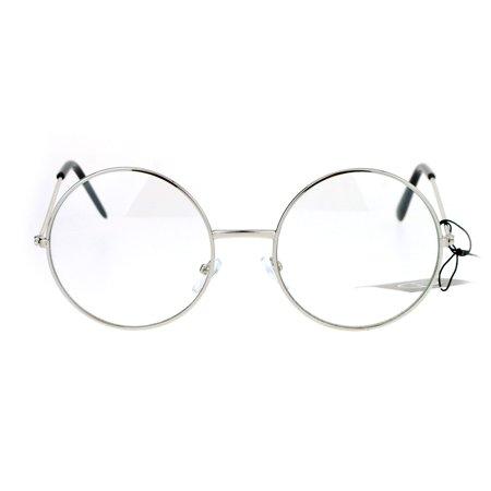 a851b93e36774 SA106 Round Circle Lens Hippie Groovy Retro Eyeglasses Silver - Walmart.com