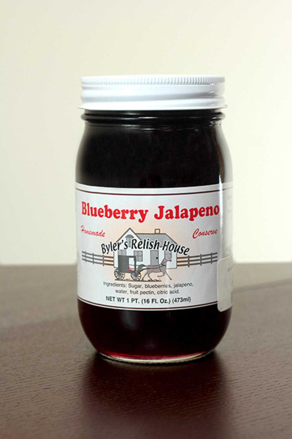Byler's Homemade Amish Country Blueberry Jalapeno Jam 16oz by Byler's Relish House