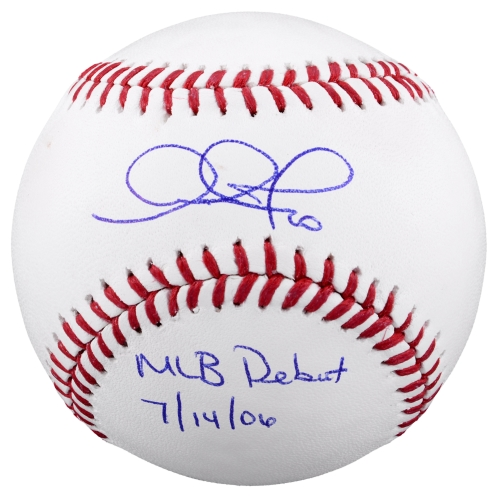 Adam Jones Baltimore Orioles Fanatics Authentic Autographed Baseball with MLB Debut 7-14-06 Inscription - No Size