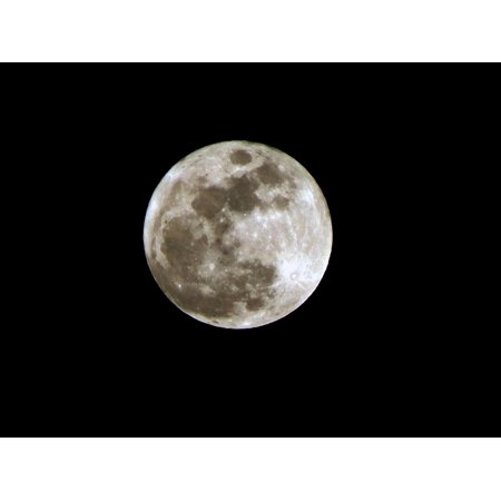 LAMINATED POSTER Sphere Night Black Dark Moon Full Full Moon Poster Print 24 x 36