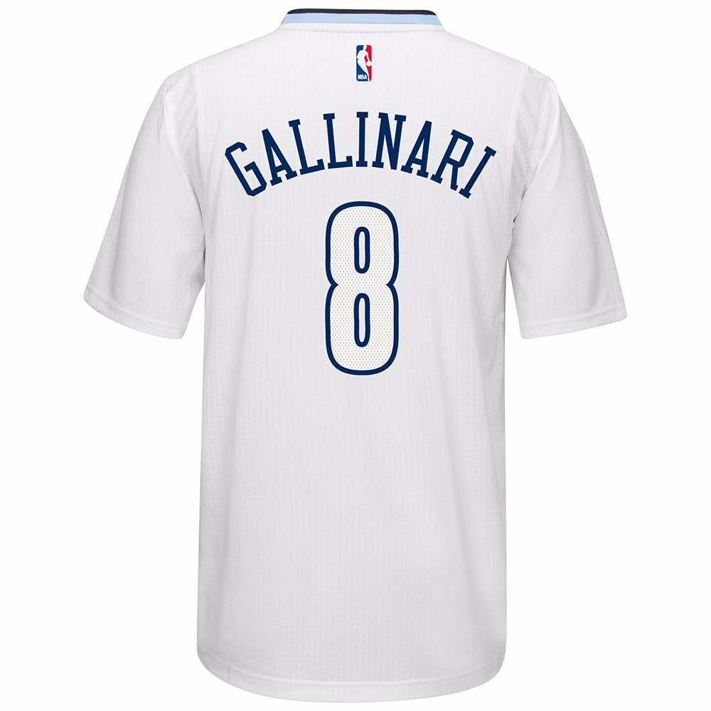 Danilo Gallinari Denver Nuggets NBA Adidas White Official Climacool Home Swingman Jersey For Men (2XL)