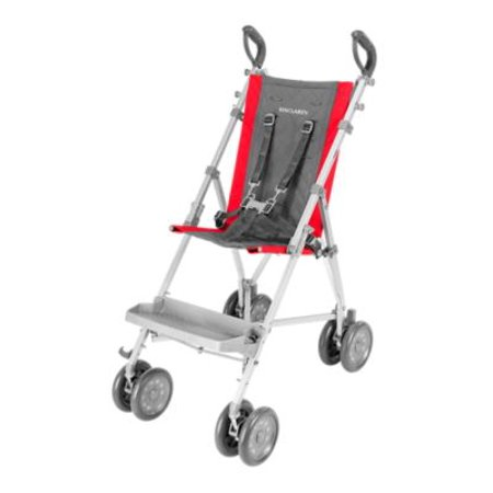 maclaren major elite transport chair, cardinal/ charcoal