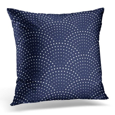 - ECCOT Abstract Wavy with Geometrical Fish Scale Silver Blue Metallic Stars on Dark Indigo Fan Shaped Christmas Pillowcase Pillow Cover Cushion Case 20x20 inch