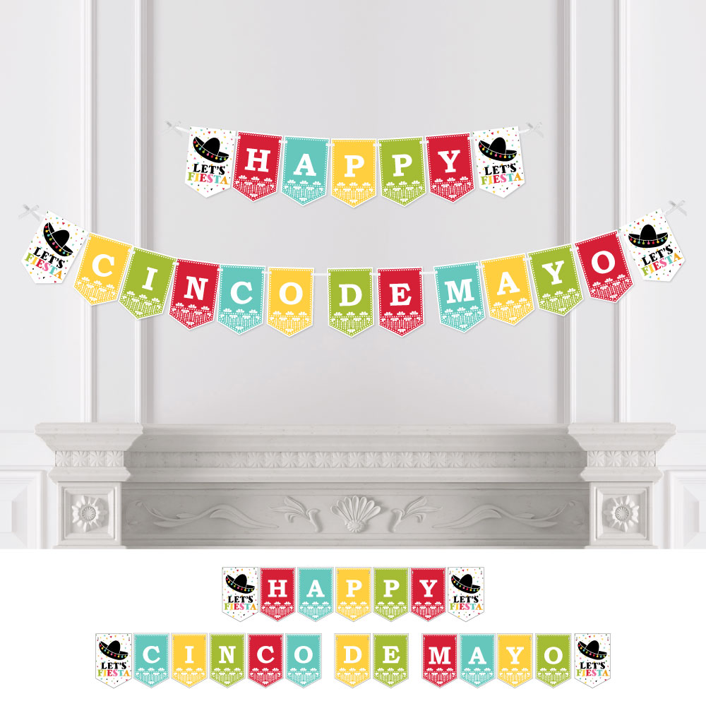 Cinco de Mayo - Mexican Fiesta Party Bunting Banner - Serape Party Decorations - Happy Cinco De Mayo