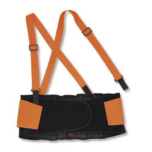 ERGODYNE 100HV Back Support, XL, 38in to 42in, 8inW, Orange
