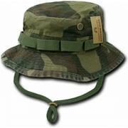 RapDom Vintage Washed Jungle Mens Boonie Hat [Woodland - XL]