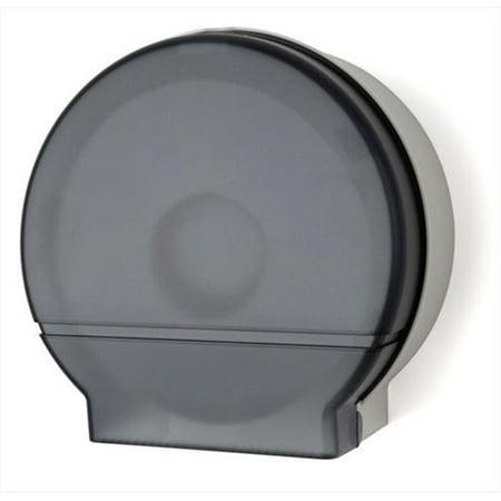 E-Z Taping System RD0026-01 9 in. Single Jumbo Roll Bath Tissue Dispenser in Dark Translucent