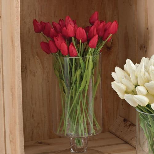 Saro Faux Botanicals Petite Tulip 9-Piece Bunch Flower (S...