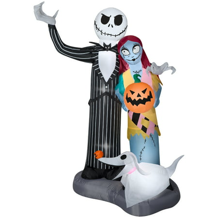 halloween airblown inflatable nightmare before christmas scene 6ft tall by gemmy industries - Nightmare Before Christmas Inflatable Lawn Decorations
