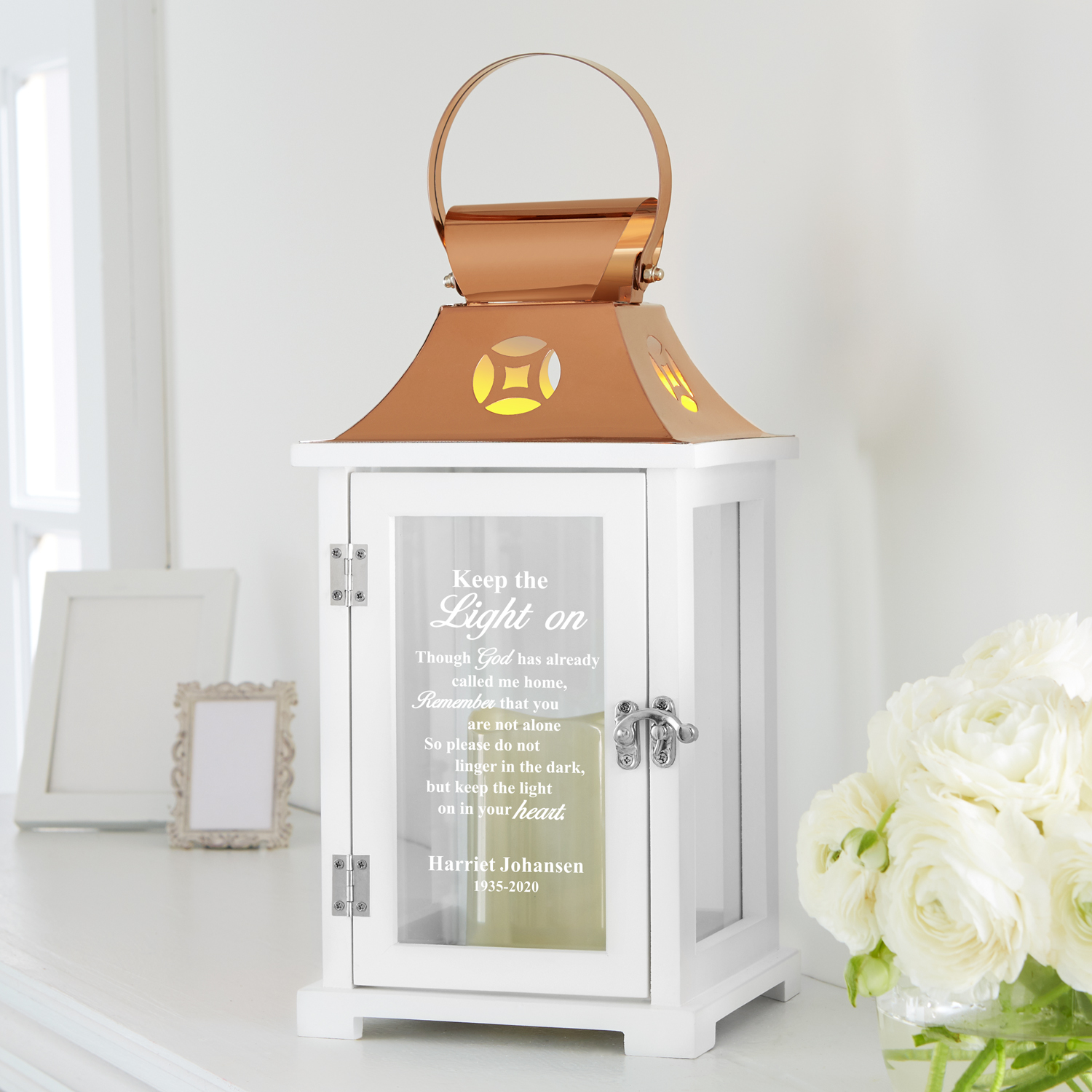 Personalized Keep The Light On Memorial Lantern Walmart Com Walmart Com