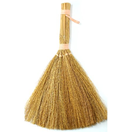 Natural Straw (8.5 inch Natural Straw Small Craft Brooms 12 Pieces)