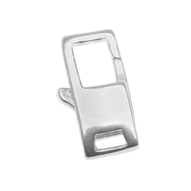 Sterling Silver Rectangle Lobster Clasp 6mm X 14.5mm (1)