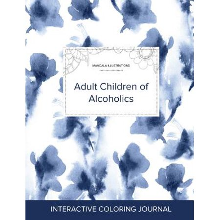 Adult Coloring Journal : Adult Children of Alcoholics (Mandala Illustrations, Blue Orchid)