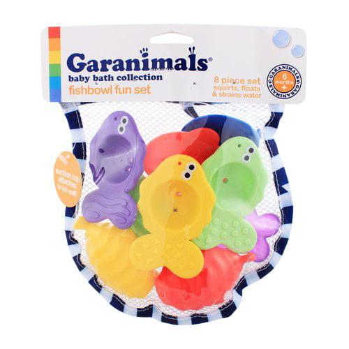 Garanimals Fishbowl Fun 8-Piece Bath Toy Set