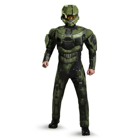 HALO DELUXE MASTER CHIEF MUSCLE ADULT MENS COSTUME