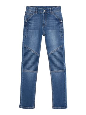 Wonder Nation Boys Skinny Moto Jeans Sizes 6-18 & Husky