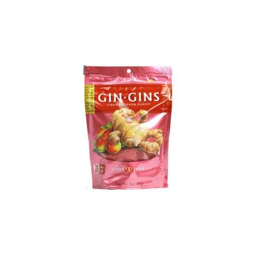 Ginger People 0121533 Gin Gins Chewy Ginger Candy Spicy Apple - 3 oz