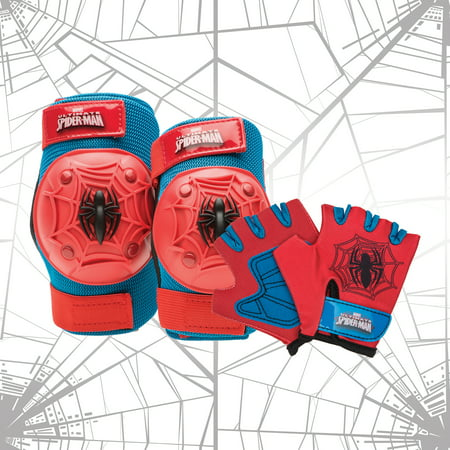 Bell Marvel Spider-Man Protective Pad and Glove Set,