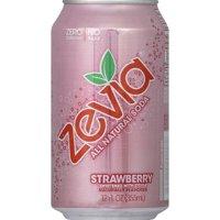 Zevia Strawberry All Natural Soda, 12 fl oz, 6 pack (Pack of 4)
