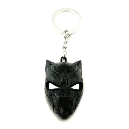 Black Panther Keychain Key Ring 2018 Marvel Movies Series Auto/Boat House - Carolina Panthers Keychain