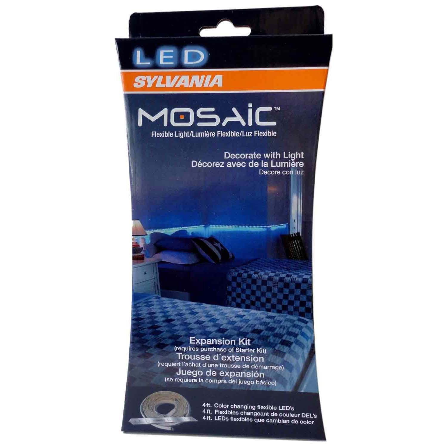 Sylvania Mosaic 2 Foot Led Rgbw Strip Lights Expansion Kit