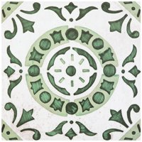 Achim Retro Self Adhesive Vinyl Floor Tile - 20 Tiles/20 Sq. Ft., 12 x 12, Green Medallion